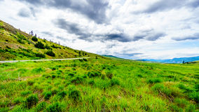 The wide open grasslands and rolling hills of the Nicola Valley. Between Kamloops and Merritt, British Columbia Royalty Free Stock Images