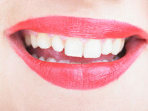 Wide Open Lips Smiling Royalty Free Stock Images