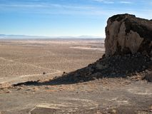 Wide open Nevada desert. The northern Nevada desert stretches out for miles and miles Stock Photos