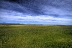 Wide open prairie. Wide open space across the prairie in this HDR image Royalty Free Stock Image
