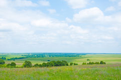 Wide Open Prairie. In late spring Royalty Free Stock Photos