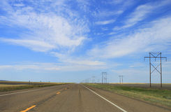 Wide open Road Stock Image