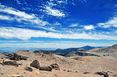 Wide open sky in the Sierra Nevada Mountains Stock Photography