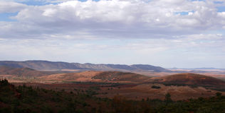 Wide open space of the Australian outback Stock Images
