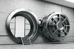 Wide open vault door Stock Photo