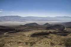 Grand vista of the Death Valley National Park California. Wide open vista of the Death Valley National Park in summer California Stock Image