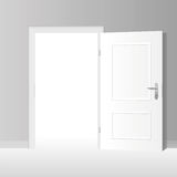 Wide Open White Door Stock Image