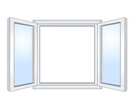 Wide open window Stock Images