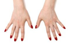 Wide open woman hands Royalty Free Stock Photos