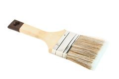 Wide paint brush isolated Royalty Free Stock Photos