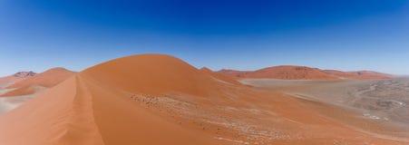 Wide panorama Dune 45 in sossusvlei Namibia Stock Images