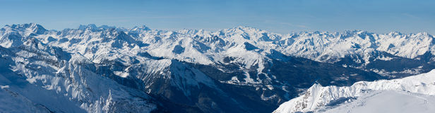 Wide panorama of French Alps Stock Photos
