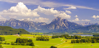 Wide panorama landscape in Bavaria Royalty Free Stock Photography