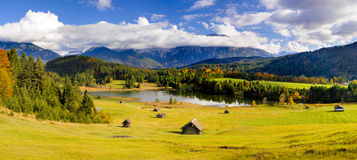 Wide panorama landscape in Bavaria Stock Photography