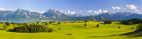 Wide panorama landscape in Bavaria Stock Images