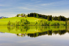 Wide panorama landscape in Bavaria Royalty Free Stock Photos