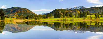 Wide panorama landscape in Bavaria Royalty Free Stock Photo