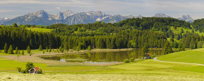 Wide panorama landscape in Bavaria Stock Photos