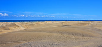 Wide panorama, Maspalomas dunes Royalty Free Stock Image