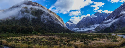 Wide Panorama of mountain valley Royalty Free Stock Photography