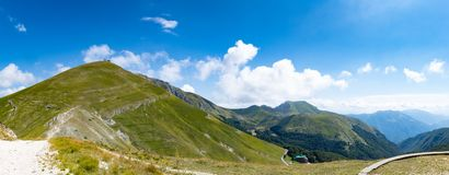 Wide panorama mountain view appennini italy Stock Image
