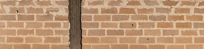 Wide view of brick wall royalty free stock photography