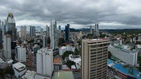 Panoramic view of Panama City Skyline Royalty Free Stock Photos