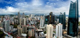 Panoramic view of Panama City Skyline Royalty Free Stock Image