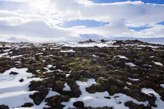 Wide panorama shot of winter mountain landscape, Iceland Royalty Free Stock Photography