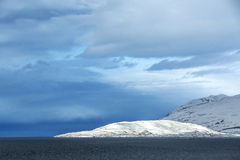 Wide panorama shot of winter mountain landscape, Iceland Royalty Free Stock Photos
