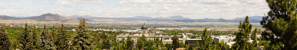 Wide Panoramic Capital Dome Helena Montana State Building Stock Photo