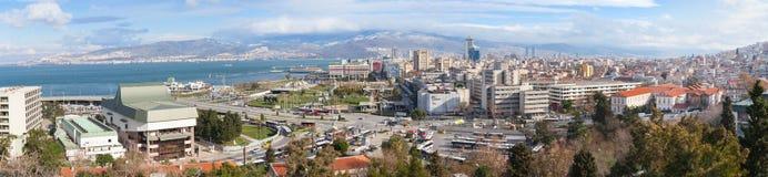 Wide panoramic skyline of Izmir city, Turkey Stock Photography