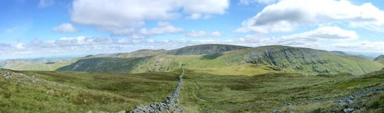 Wide panoramic from Stony Cove to High Street Stock Photo