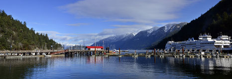 Wide panoramic view from Horseshoe bay Stock Photo