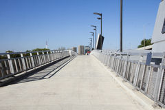 Wide Pedestrian Overpass Royalty Free Stock Images