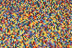 Wide perspective of colorful mosaic tiles. Pattern on a wall Stock Photography
