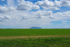 Wide plains and dispersed mountains, Idaho Royalty Free Stock Photos