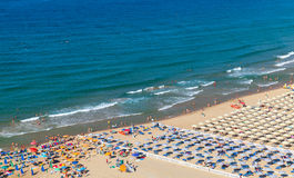 Wide public beach of Gaeta, Italy Royalty Free Stock Photos