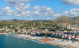 Wide public beach of Gaeta town, Italy Stock Image