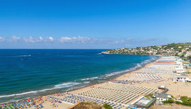 Wide public beach of Gaeta town Royalty Free Stock Photo