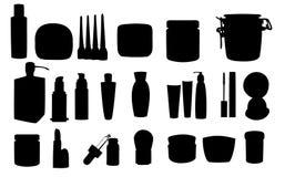 Wide range of cosmetic jars Stock Photography