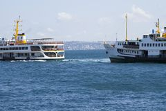 Ferry services in Istanbul, Turkey stock images