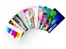 Wide range of gift card ideas for all types of people Royalty Free Stock Photos
