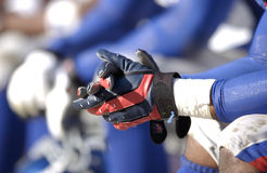Wide Receiver gloves Stock Photography