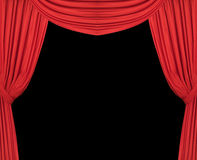 Wide Red Theatre Curtains Royalty Free Stock Photos