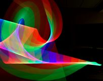 Abstract Light Ribbon Trails royalty free stock images