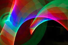 Abstract Light Ribbon Trails royalty free stock photography