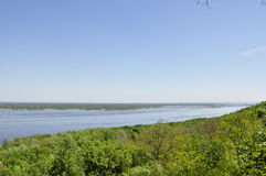 Wide river in Ukraine Stock Photography