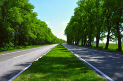 Wide Road Stock Image
