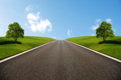 Wide Road Royalty Free Stock Photo